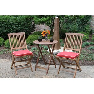 Roseland Brazilian Eucalyptus 3 Piece Bistro Set by Beachcrest Home