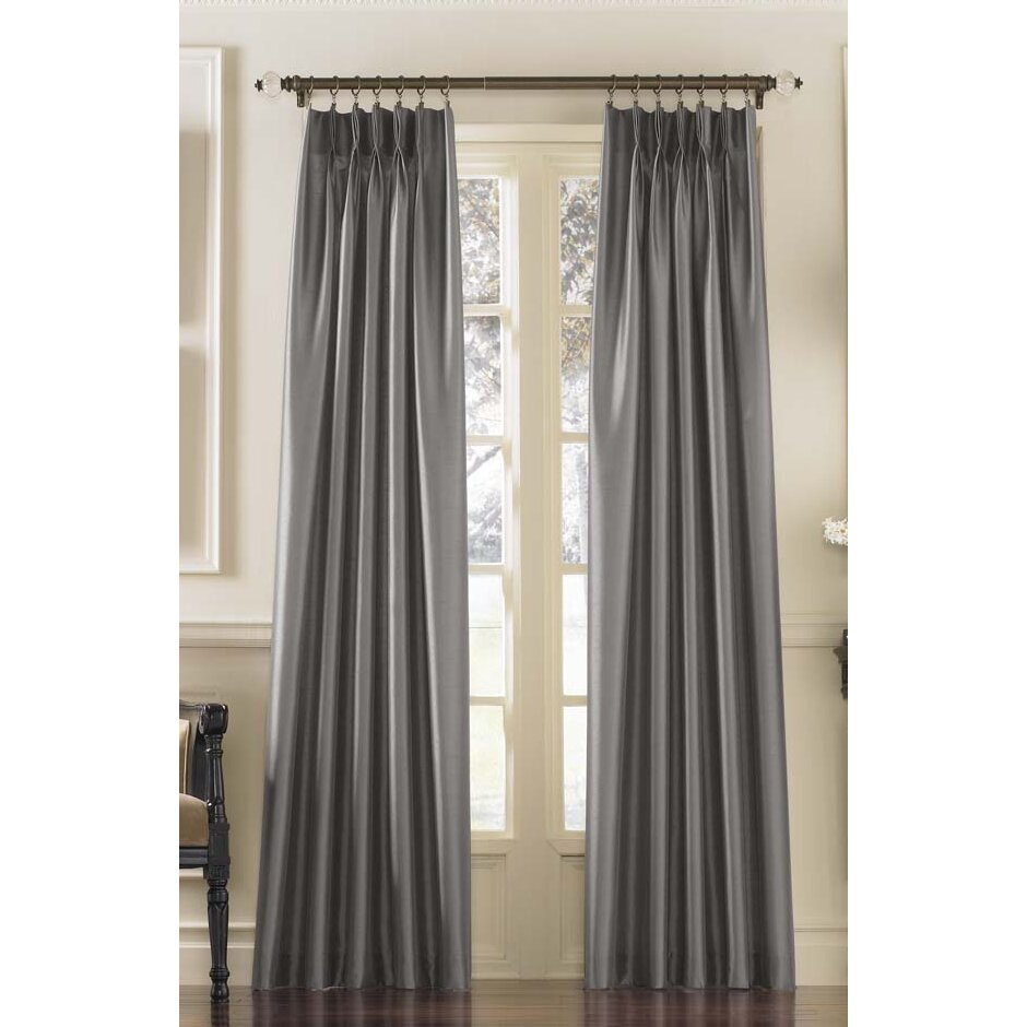 Curtainworks Marquee Solid Blackout Pinch Pleat Single Curtain Panel Reviews Wayfair