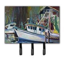 Joe Patti Shrimp Boat Key Holder by Caroline's Treasures
