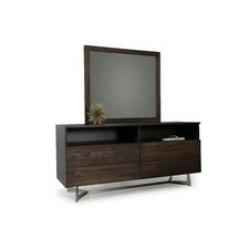 Merkley Rectangular 4 Dresser with Mirror by Brayden Studio
