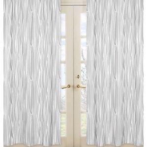 Wonderful Woodland Animals Print Sheer Rod Pocket Curtain Panels (Set Of 2)