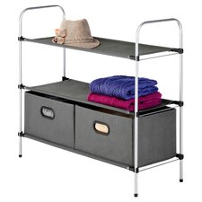 2 Drawers 3 Tier Shelves by Whitmor, Inc