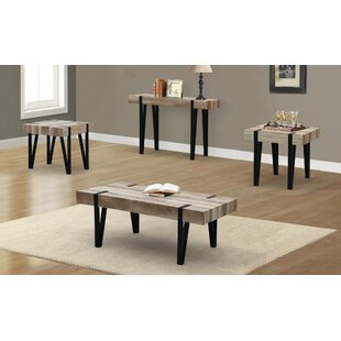 Hopedale Mixed Media 3 Piece Coffee Table Set