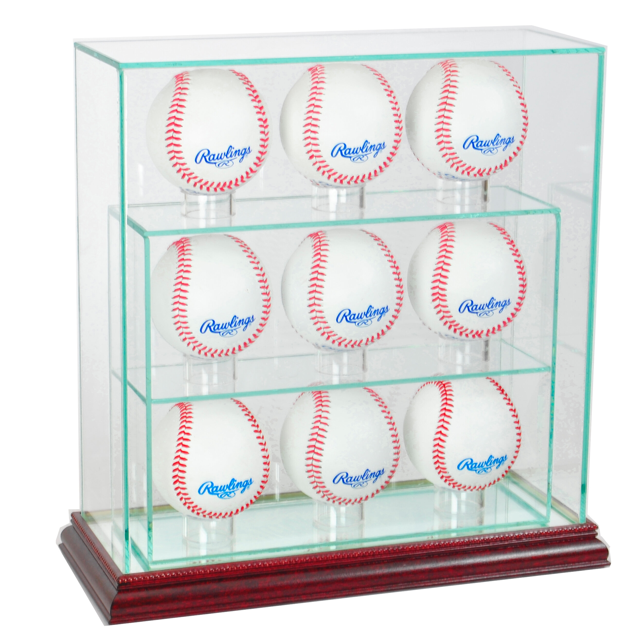 a2a0f32475c Perfect Cases 9 Upright Baseball Display Case