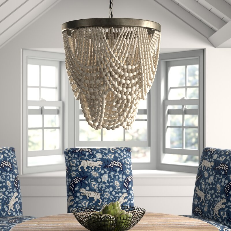 Mistana Hatfield 3 - Light Unique Tiered Chandelier with Beaded Accent
