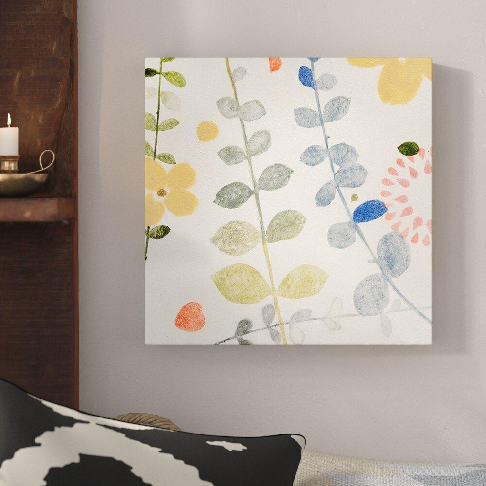 Global Gallery Courtney Prahl Pattys Garden II Canvas Artwork 30 x 30