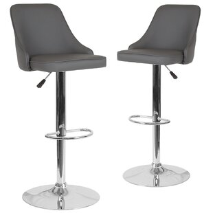 Compare & Buy Glencoe Adjustable Height Bar Stool (Set of 2) by Wrought Studio Reviews (2019) & Buyer's Guide