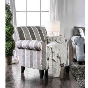 Canora Grey Urgeon Stripe Patterned Fabric Armchair