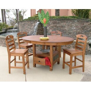 Fresno 5 Piece Dining Set by Loon Peak Best #1
