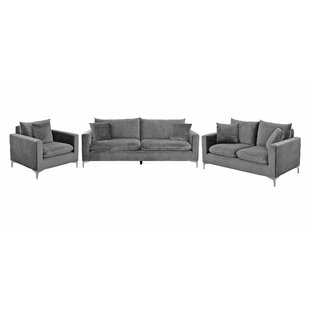 Mercer 3 Piece Sofa Set By Canora Grey