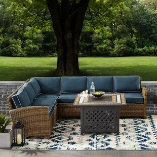 Lawson 5-Piece Rattan Sectional Seating Group with Cushions by Birch Lane? Heritage