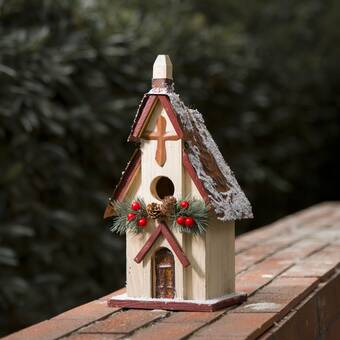 Wilco Home Wood And Metal 10 3 In X 8 3 In 6 8 In Barn Birdhouse Reviews Wayfair