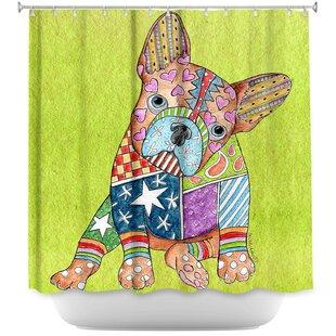 French Bulldog Single Shower Curtain