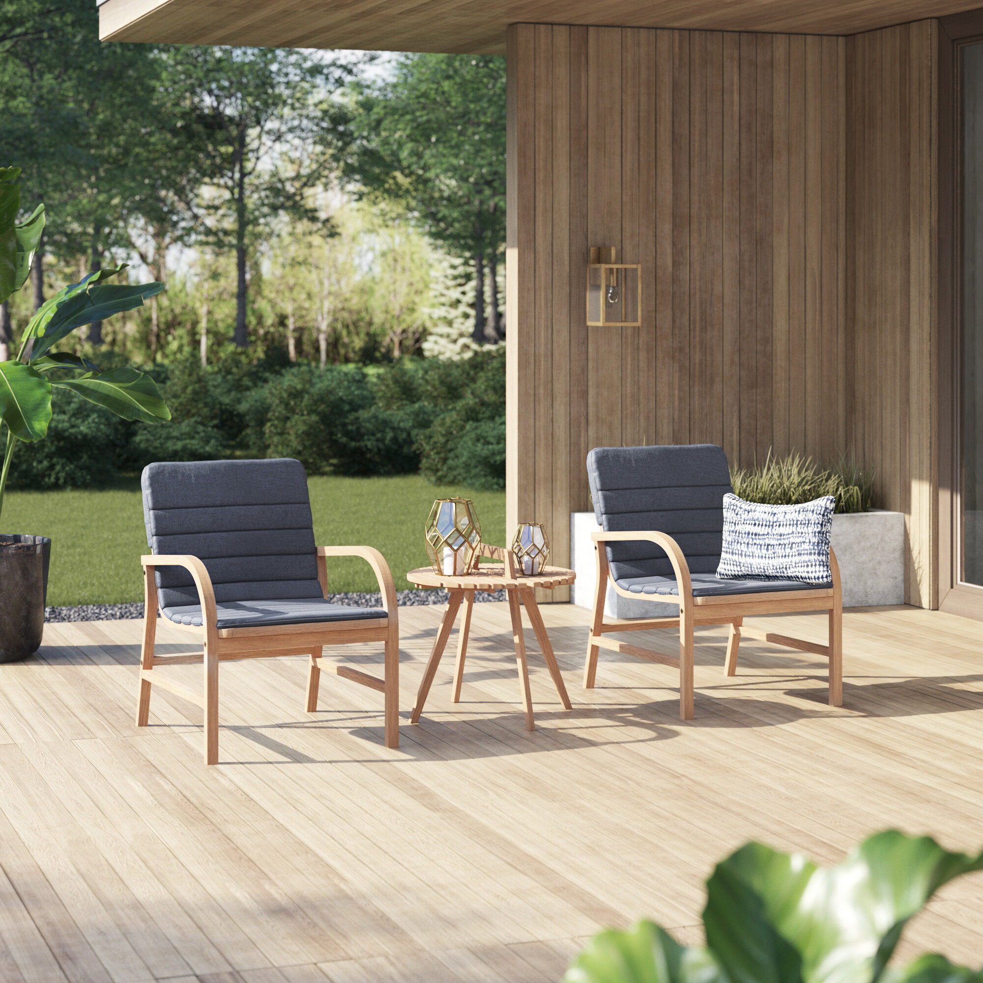 Mercury row kapp 3 piece outdoor seating group with cushions reviews wayfair