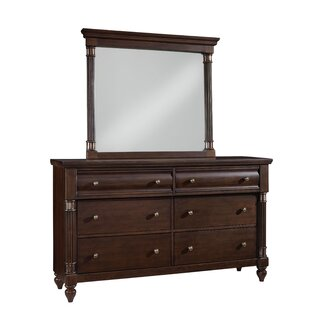 Cruz 6 Drawer Double Dresser With Mirror by DarHome Co Great Reviews
