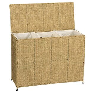 Household Essentials Seagrass KD Triple Wicker Laundry Sorter