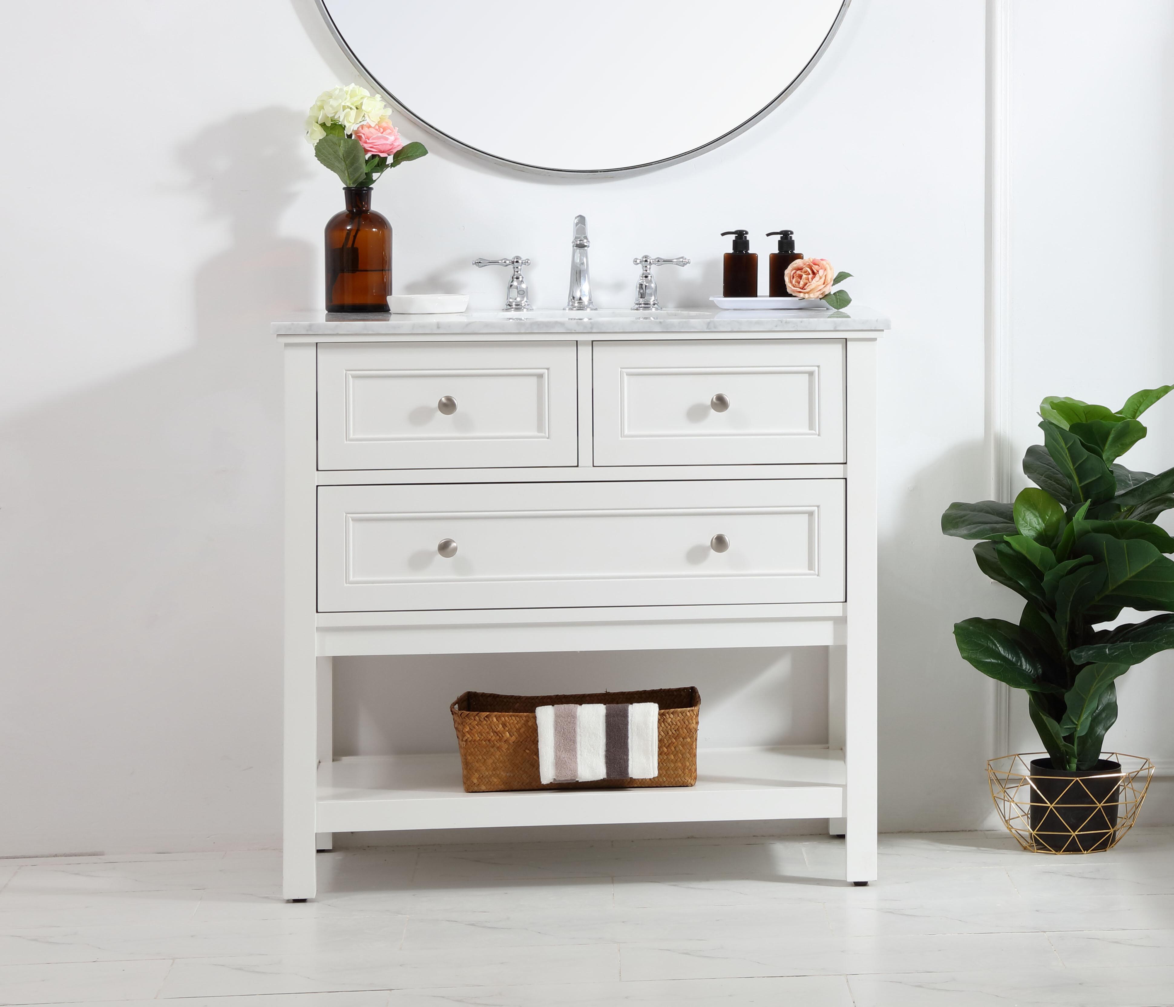 "Voss 9"" Single Bathroom Vanity Set"