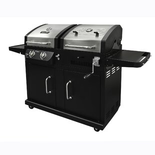 2-Burner Propane Gas Grill with Side Shelves by Dyna-Glo