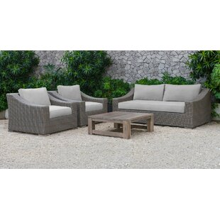 Sinclair Palisades 4 Piece Sofa Set with Cushions
