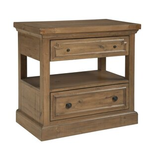 Oakwood 2 Drawer Nightstand