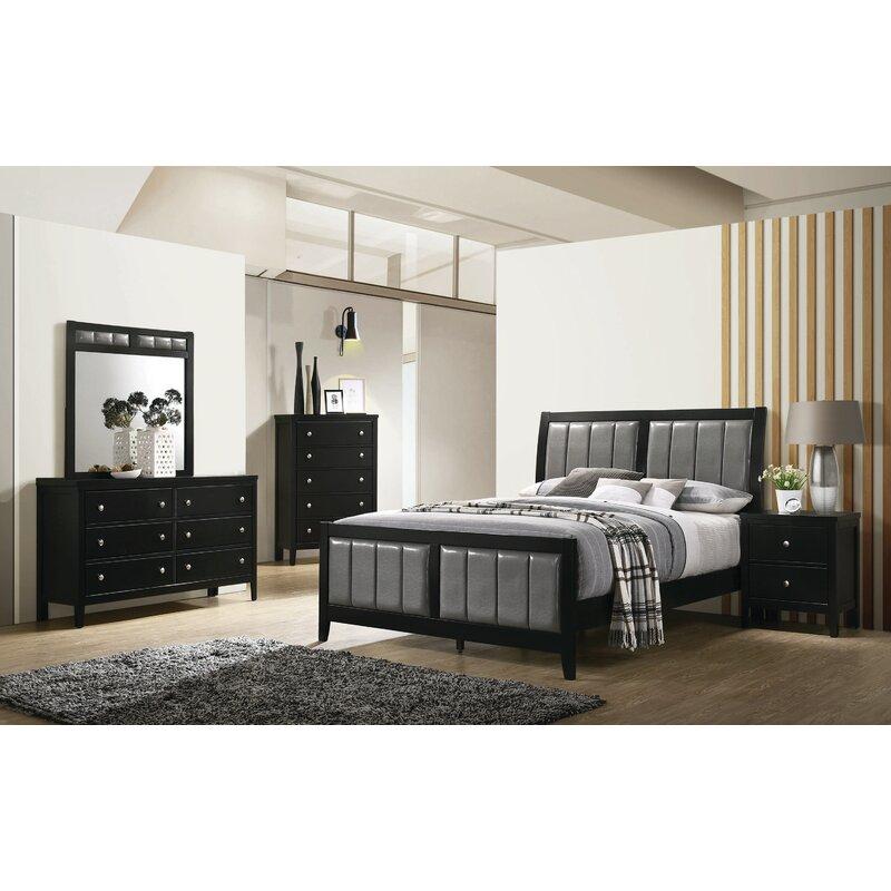 ivy bronx mckown king sleigh solid wood 5 piece bedroom