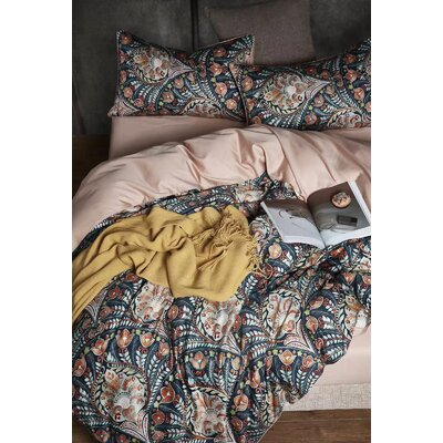 World Menagerie Meenakshi Classical European Bohemian Medallion Reversible Duvet Cover Set World Menagerie Size Queen Duvet Cover 2 Shams From Wayfair North America Shefinds