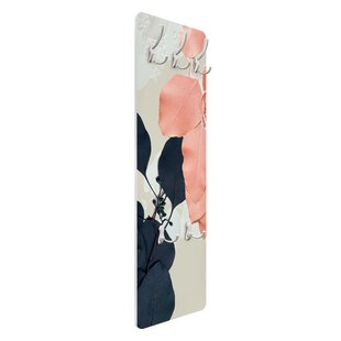Indigo & Rouge Leaves II Wall Mounted Coat Rack By Symple Stuff