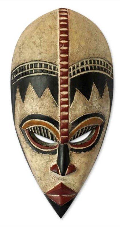 World Menagerie Dougie Protect My Baby Nigerian Wood Mask Wall Decor Wayfair