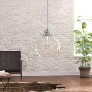 Carmon 1-Light Globe Pendant by Mercury Row