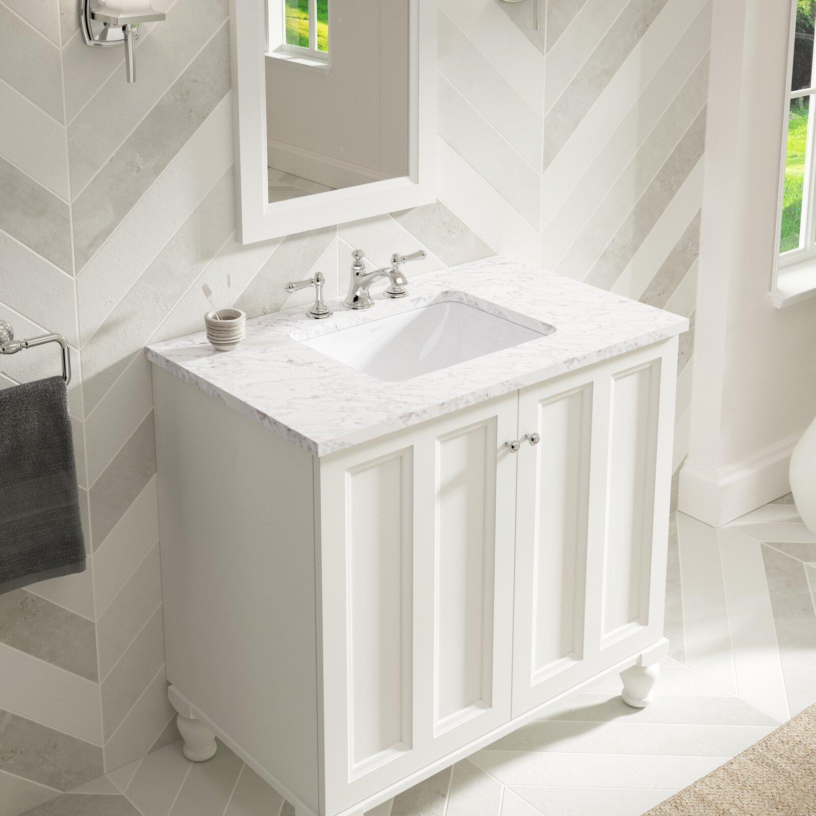 K 20000 0 96 95 Kohler Caxton Rectangle 20 1 4 Undermount Bathroom Sink With Overflow Reviews Wayfair