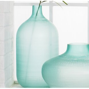 Amphora Glass Floor Vase
