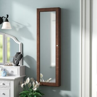 Alcott Hill Chauncey Wall-Mounted Jewelry Armoire with Mirror