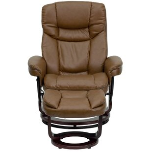 Latitude Run Winnols Manual Swivel Recliner with Ottoman