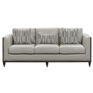 Dorlean Genuine Leather 84.25 Sofa By Brayden Studio