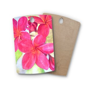 Sylvia Cook Birchwood Plumeria Flower Petals Cutting Board By East Urban Home