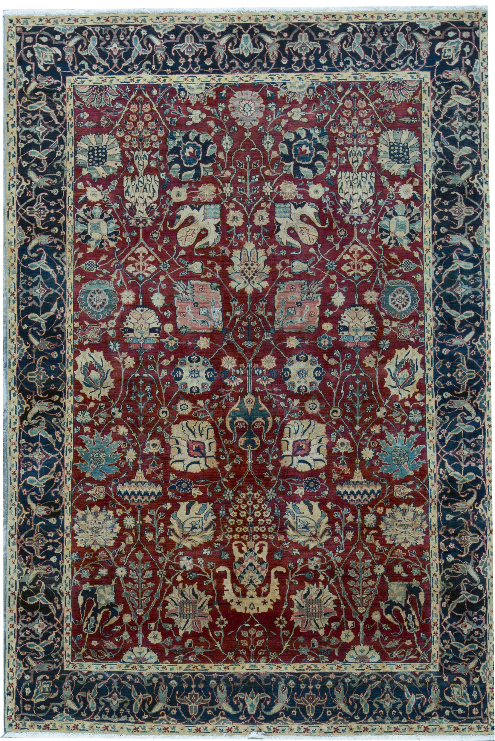 Bokara Rug Co Inc Sona Oriental Hand Knotted Wool Red Area Rug Wayfair