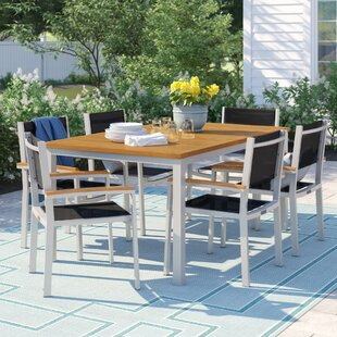 Caspian 7 Piece Aluminum Frame Dining Set