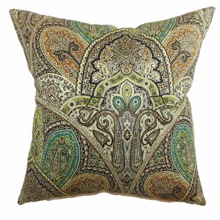 La Ceiba Paisley Cotton Throw Pillow Cover