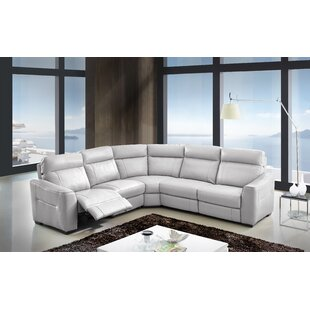 Creative Furniture Symmetrical Leather Reclining Sectional