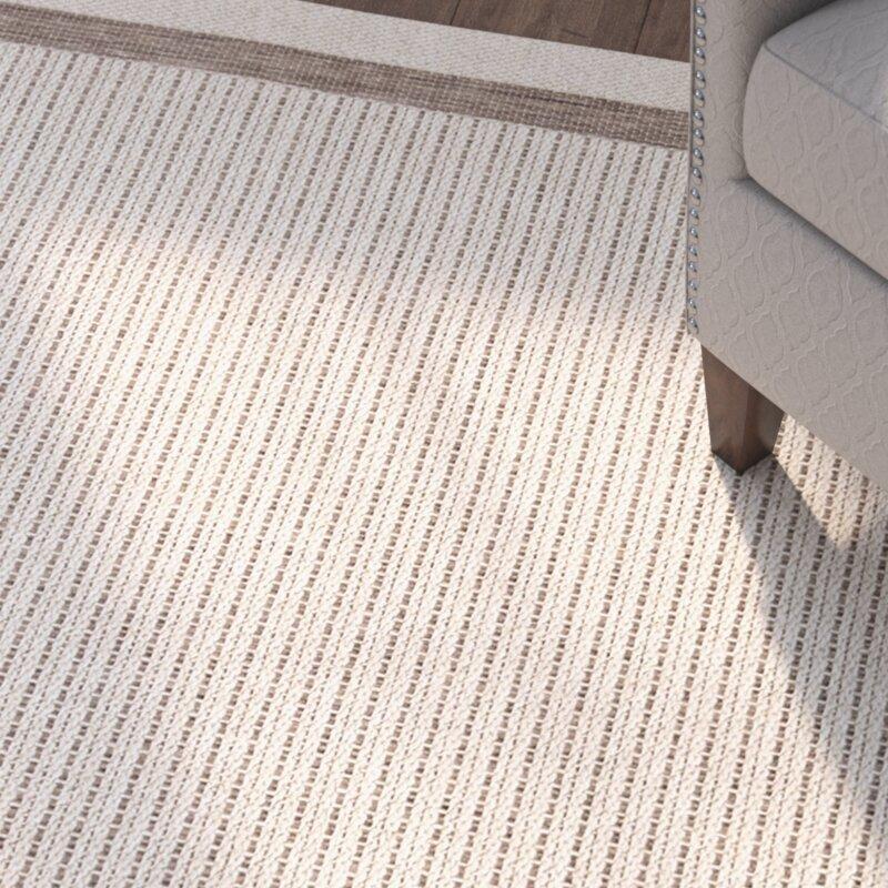 Three Posts Acton Tan/Ivory Striped Indoor/Outdoor Area Rug ...