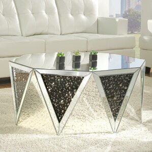 Blakes Mirrored Coffee Table by Rosdorf Park