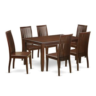 Araminta 7 Piece Solid Wood Dining Set Alcott Hill