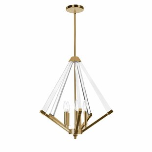 Longchamps 5-Light Geometric Chandelier by Mercer41