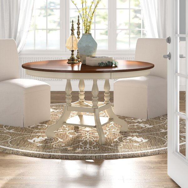 Lark Manor Alise Extendable Solid Wood Dining Table