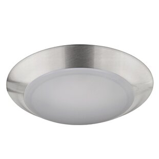 Ebern Designs Elenore 1-Light LED Metal Flush Mount