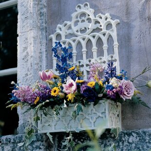 Iron Wall Planter With Trellis