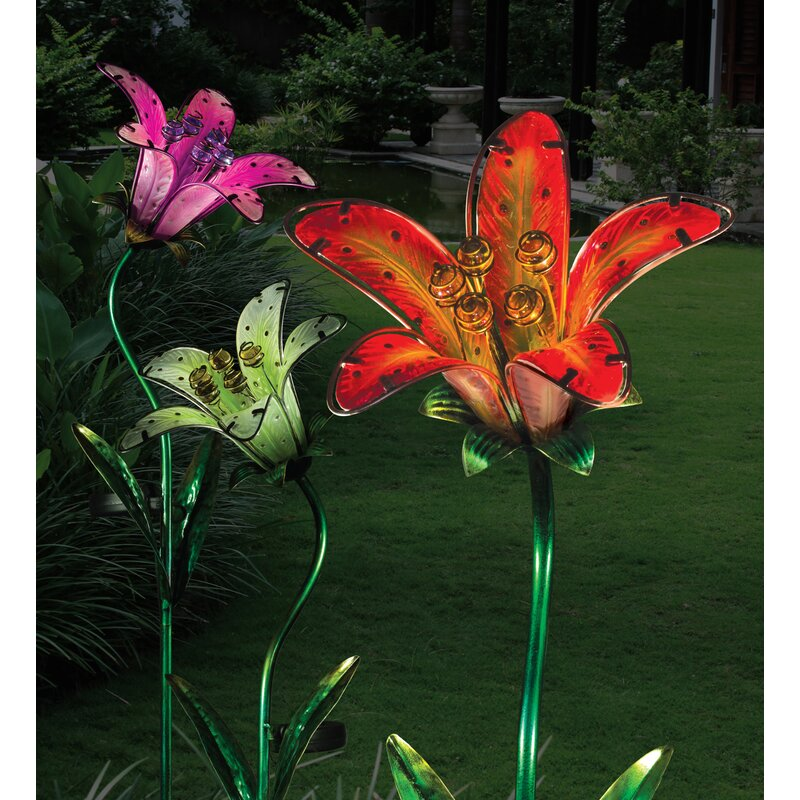 Regal Art Gift Led Solar Tiger Lily Garden Stake Wayfair