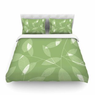 Leaf Olive by Alison Coxon Featherweight Duvet Cover