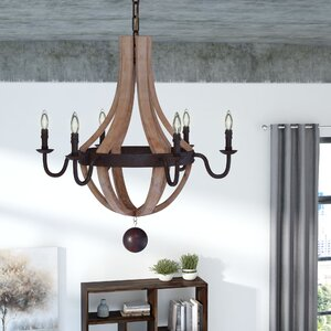 Greenmeadow 6-Light Candle-Style Chandelier