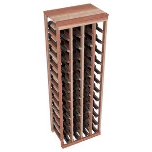 Red Barrel Studio Karnes Redwood Table Top 48 Bottle Floor Wine Rack